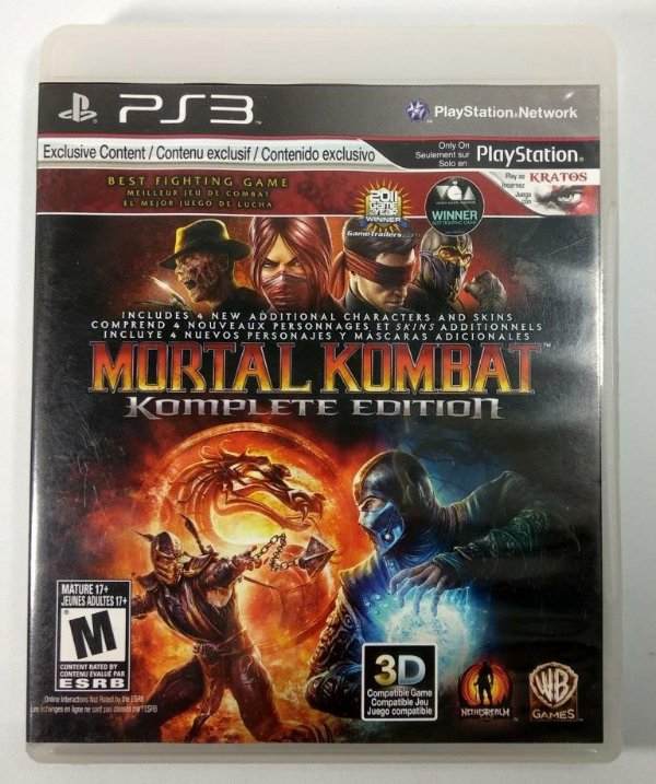 Jogo Mortal Kombat Komplete edition - PS3