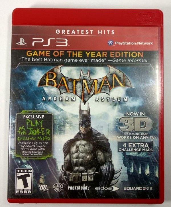 Batman Arkham Asylum Game of the Year Edition - PS3