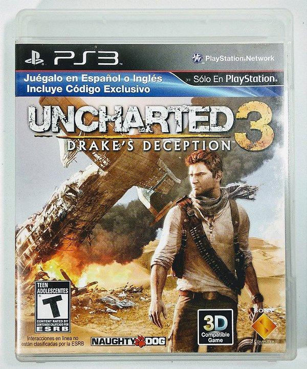 Jogo Uncharted 3 Drakes Deception - PS3