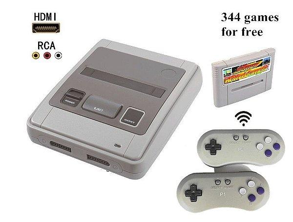 Console SFC GAME HDMI (Sistema SNES com 2 controle s/fio)