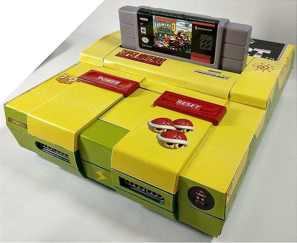 Super Nintendo Personalizado Mario Kart - SNES