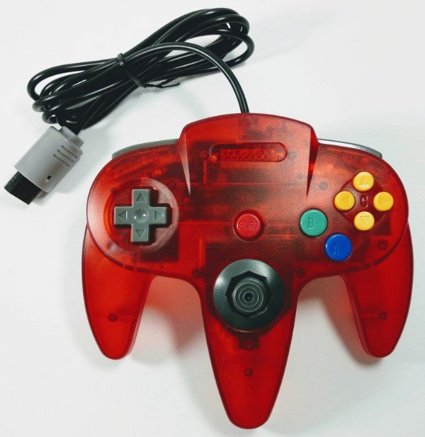 Controle translúcido Vermelho - N64