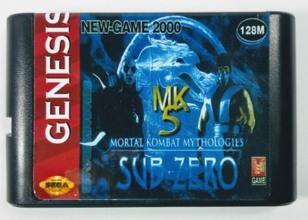 Jogo Mortal Kombat Mythologies Sub-Zero - Mega Drive