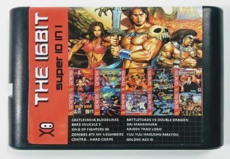 Jogo Super 10 in 1 - Mega Drive