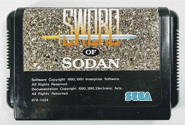 Jogo Sword of Sodan Original [JAPONÊS] - Mega Drive