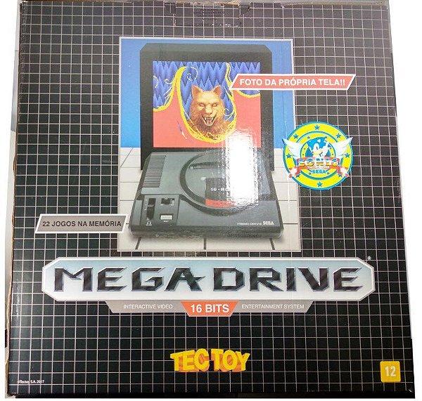 """Novo"" Mega Drive Tectoy (inclui 1300 jogos na memória)"