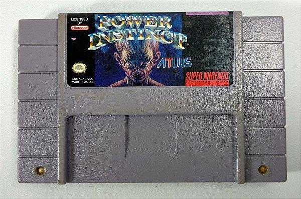 Jogo Power Instinct Original - SNES