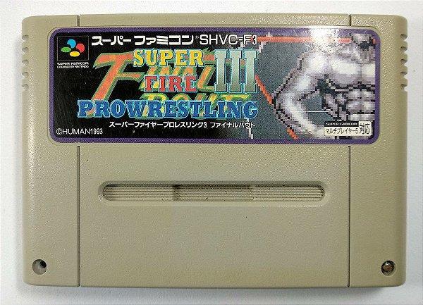 Jogo Super Fire Pro Wrestling 3 Original - Super Famicom
