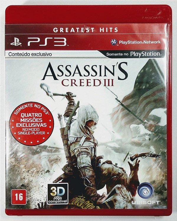 Jogo Assassins Creed III - PS3