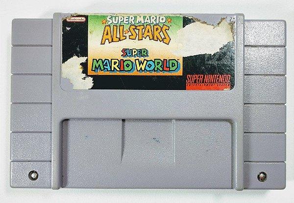 Jogo Super Mario All Stars + Super Mario World Original - SNES