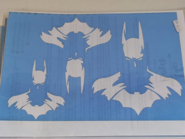 STENCIL VAN BORA 28X19 BATMAN 01