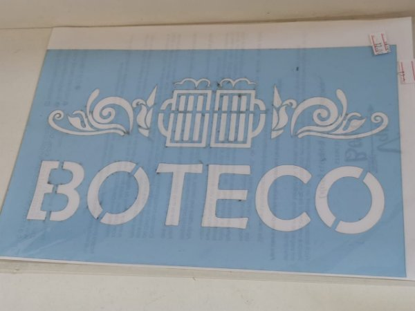 STENCIL VAN BORA 28X19 BOTECO