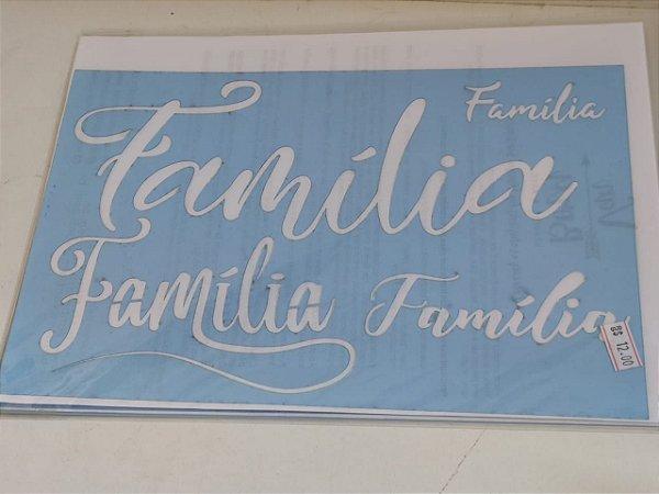 STENCIL VAN BORA 28X19 FAMÍLIA