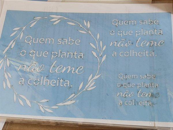 STENCIL VAN BORA 28X19 QUEM SABE O QUE