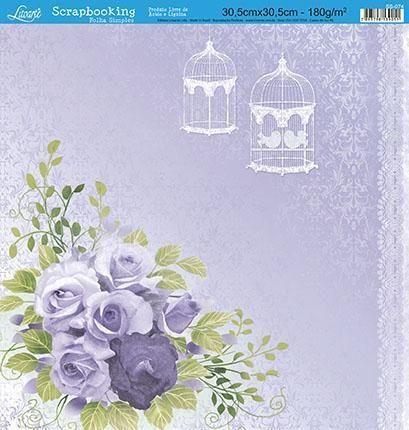 SCRAPBOOK LITOARTE UMA FACE 30,5X30,5 SS 074