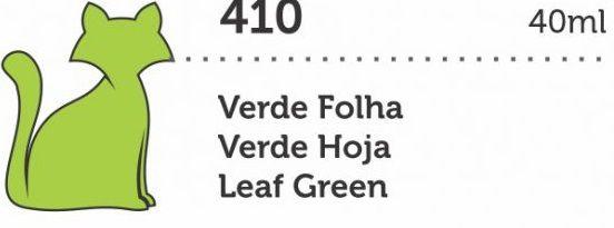 VERNIZ VITRAL GATO PRETO VERDE FOLHA 40ML