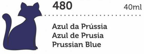 VERNIZ VITRAL GATO PRETO AZUL DA PRÚSSIA 40ML