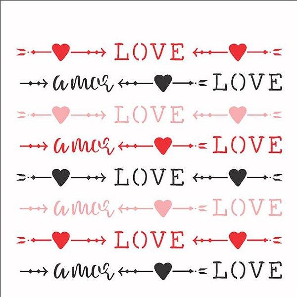 STENCIL 14X14 - ESTAMPARIA LOVE
