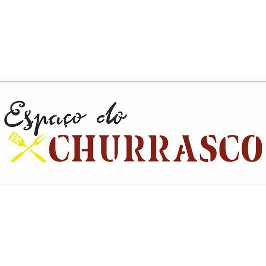 STENCIL10X30 - ESPAÇO DO CHURRASCO
