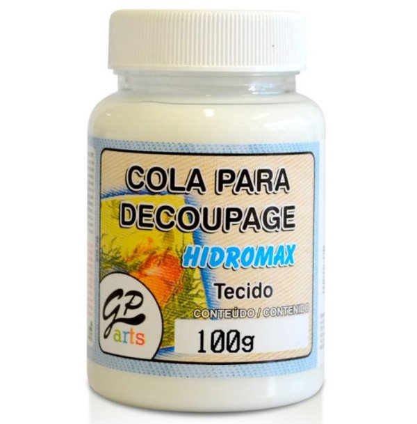 COLA PARA DECOUPAGE HIDROMAX TECIDO 100G GATO PRETO