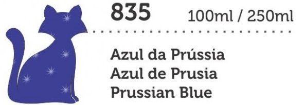 TINTA PVA CINTILANTE MEGA 250ML AZUL DA PRUSSIA GATO PRETO