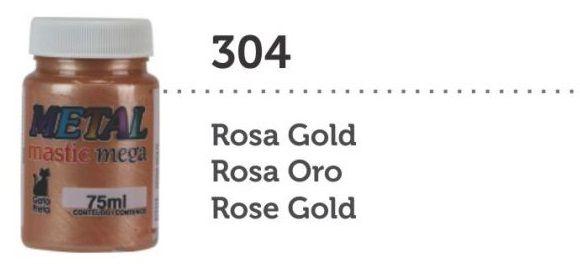 METAL MASTIC 75 ML ROSA GOLD MEGA GATO PRETO