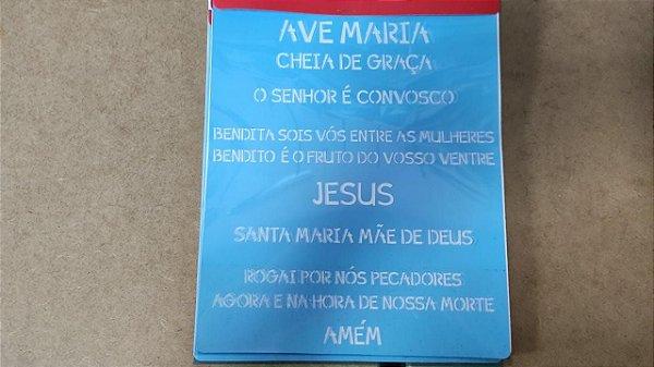 STENCIL 20X25 - RELIGIÃO ORAÇÃO AVE MARIA