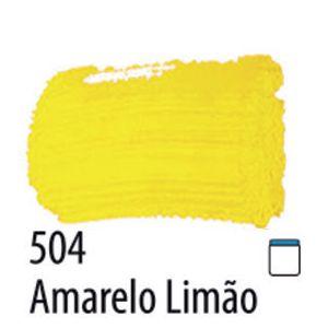 TINTA PVA FOSCA 100ML 504 AMARELO LIMAO ACRILEX