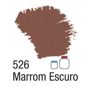 TINTA ACRÍLICA FOSCA 60ML 526 MARROM ESCURO ACRILEX