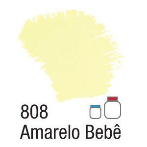 TINTA ACRÍLICA FOSCA 60ML 808 AMARELO BEBE ACRILEX