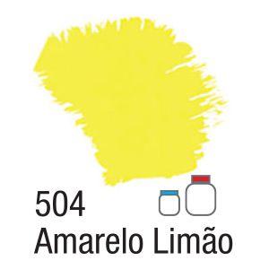 TINTA ACRÍLICA FOSCA 60ML 504 AMARELO LIMAO ACRILEX