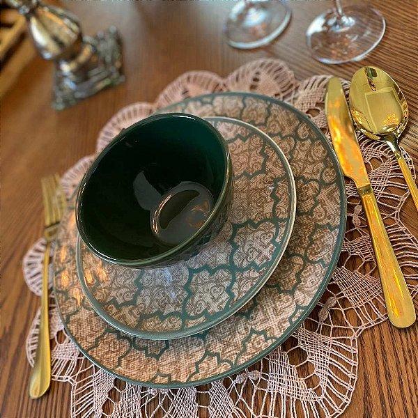 Prato Sobremesa Linen