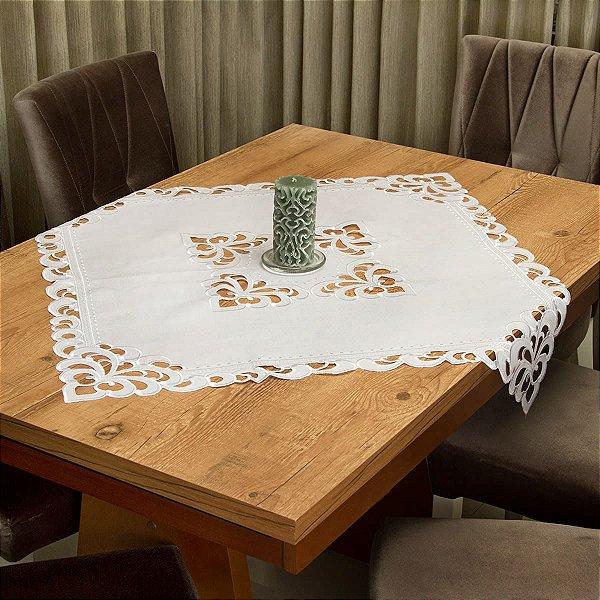 Toalha de Chá Quadrada Richelieu Branca