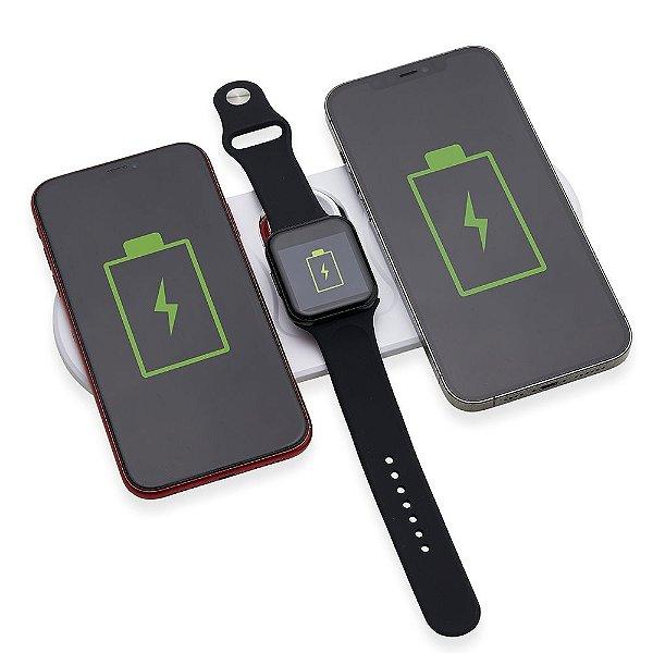 Base Dual Indução para Celulares e Iwatch