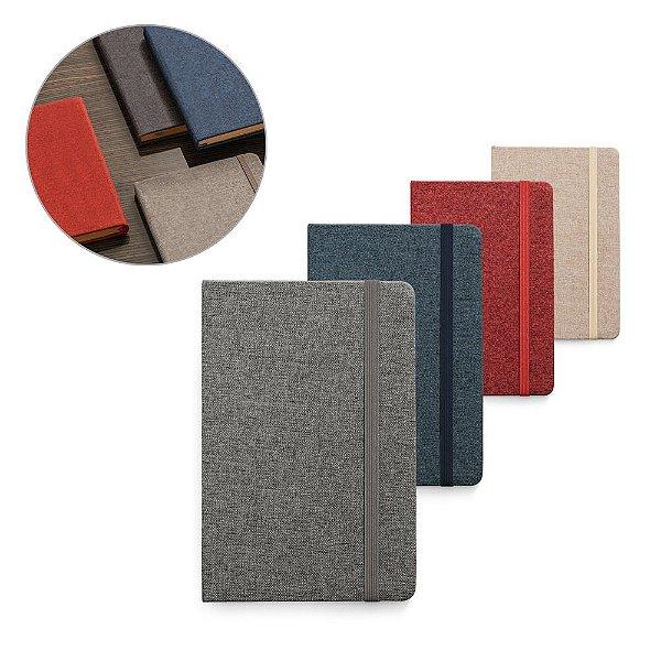 Caderno A5 capa em tecido poliester e personalizado com seu logo