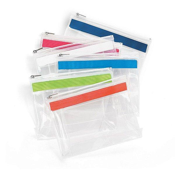 Bolsa Portade cosméticos em eva com fecho de correr e puxador metálico, personalizado com logo