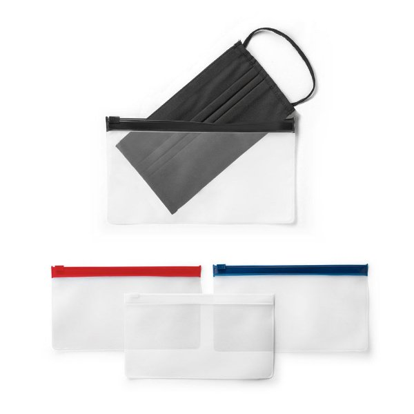 Porta Mascara bolsa hermética em EVA com fecho de pressão e personalização de seu logo