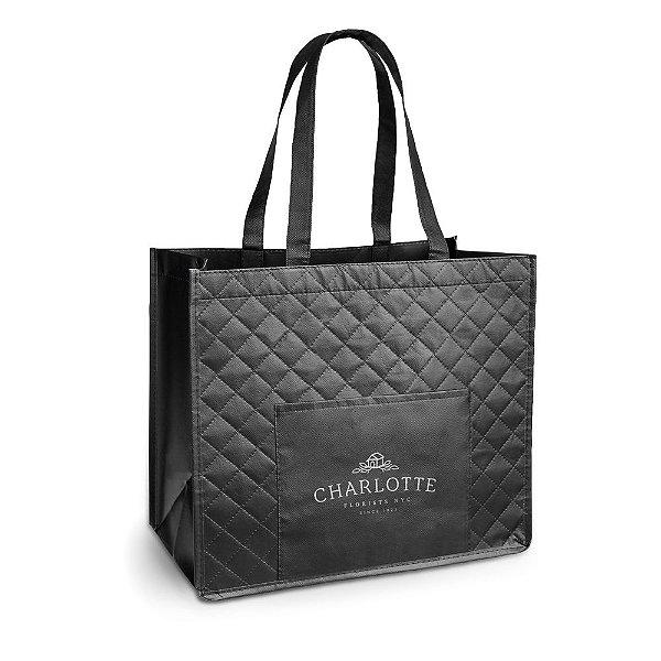 Linda sacola personalizada 381x33x200 mm, para lojas, boutiques c/ bolso frontal lote de 75 peças