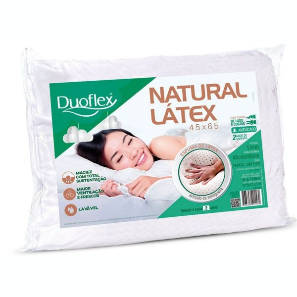 Travesseiro Látex Natural 45X65X13 Duoflex
