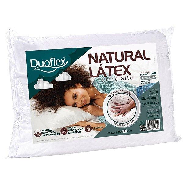Travesseiro Natural Látex Extra Alto 50X70X18 Duoflex