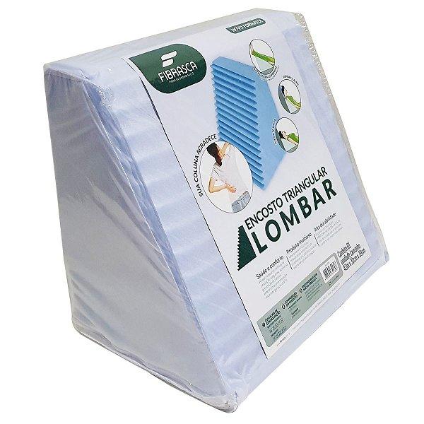 Travesseiro  Triangulo Lombar 31x39x43 Com capa removivel Fibrasca