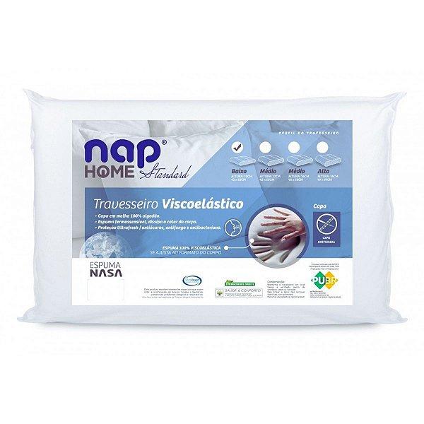Travesseiro Nasa Home Standard Perfil Baixo 42x63x10 Nap