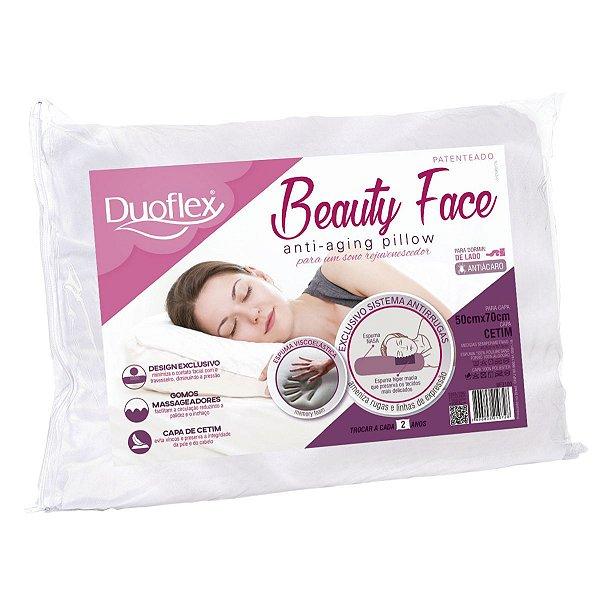 Travesseiro Anti Rugas Beauty Face 50x70 x14cm Duoflex