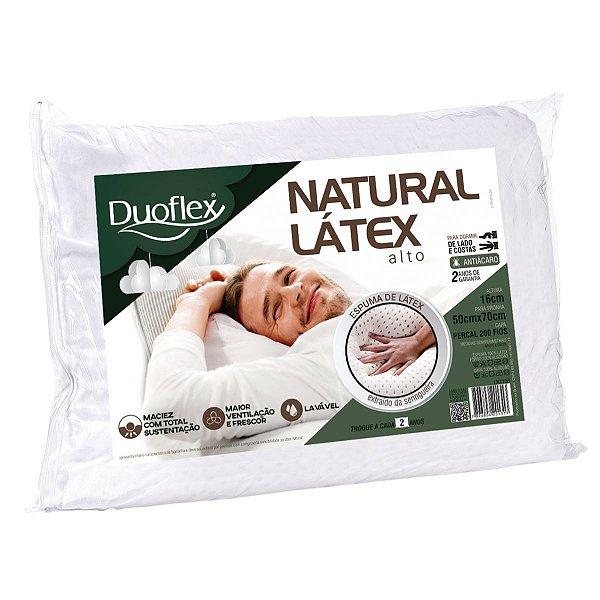 Travesseiro Látex Natural Vegetal 50x70x16cm Duoflex