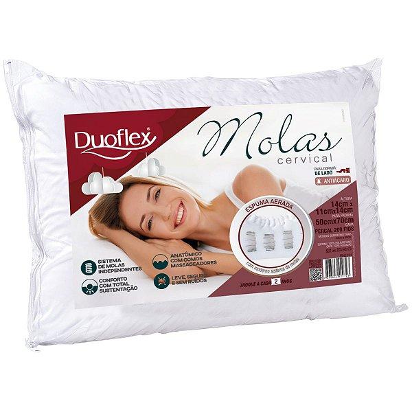 Travesseiro Ortopédico Molas Cervical 50X70X14 Duoflex