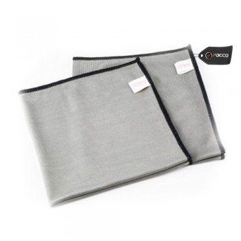 Toalha para Secagem de Vidro 40x40 Cinza 290GSM SGCB
