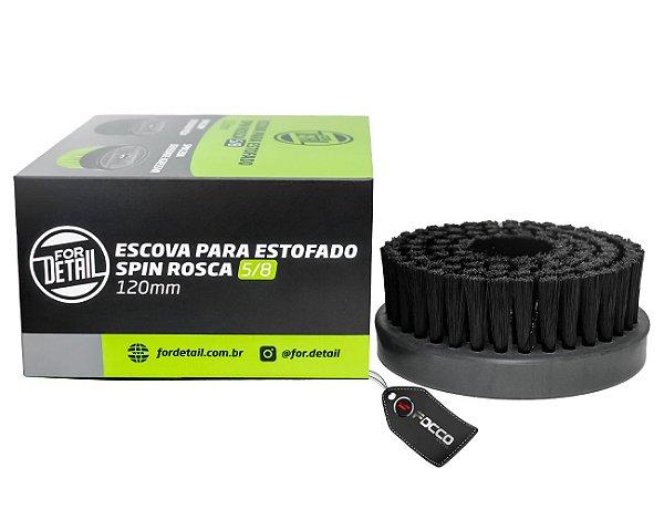 """ESCOVA DE ESTOFADOS SPIN 5/8"""" PRETA MÉDIA 120MM FOR DETAIL"""