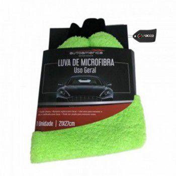 Luva De Microfibra Verde 21x27cm Autoamérica