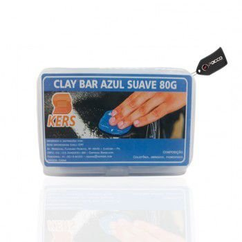 Clay Bar Azul Suave 80g Kers