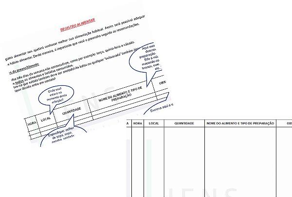Formulário para Registro Alimentar
